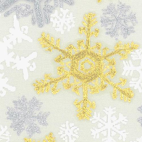 X'masの新塩瀬帯「雪の結晶オーナメント」 グレー地