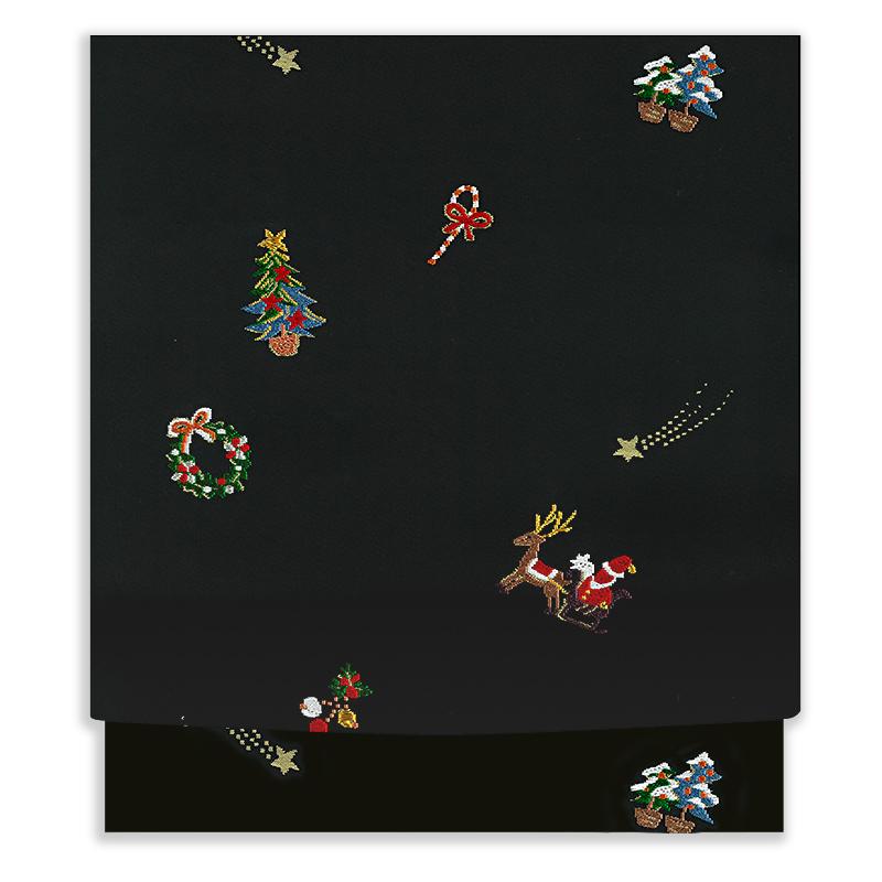 X'masの絹の帯「聖夜」 黒