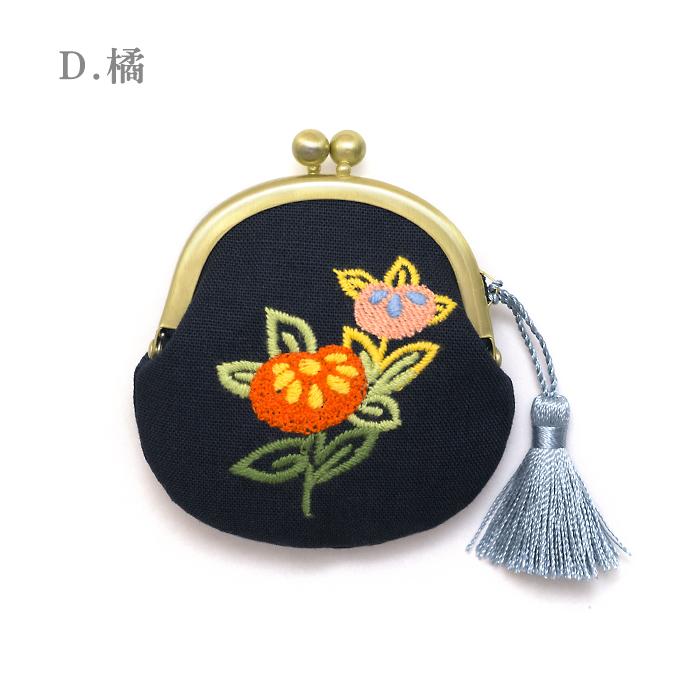 刺繍がま口「花ごよみ」(小)