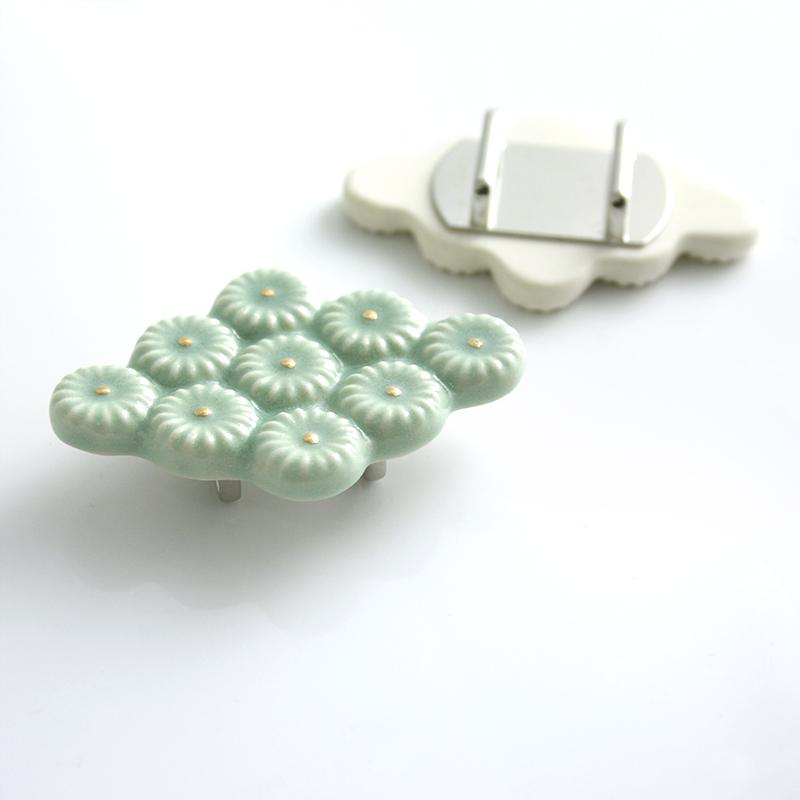 陶器の帯留め「菱形」(全3色)