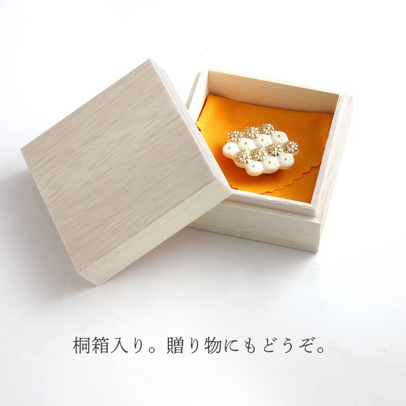 陶器の帯留め「六角」(全2色) 【ネコポス不可】