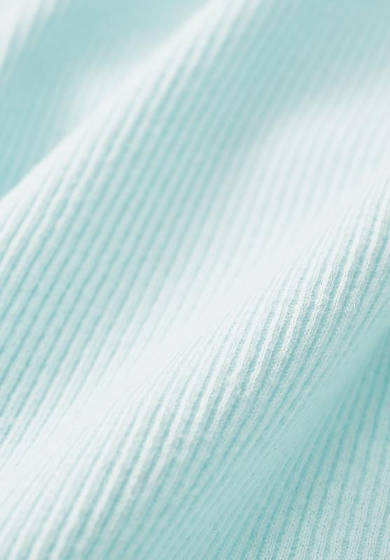 【タイニープリンセス】綿混リブブラレット(アイボリー/ミント) 小胸 ブラ ノンワイヤー  フィット S M Aカップ 小さいサイズ  小さめ  インナー レディース