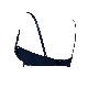 【タイニープリンセス】ボリュームアップ・丸胸メイクアップノンワイヤーブラ(ネイビー/アイボリー)
