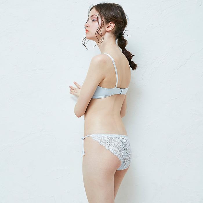 【タイニープリンセス】ボリュームアップ・丸胸メイクアップペアショーツ(グレー/ブラック)