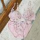 【タイニープリンセス】ボリュームアップ・丸胸メイクアップノンワイヤーブラ(ピンク/ブラック)
