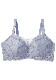 【グラマープリンセス】アイラッシュレースミニマイザーワイヤーブラジャー(ブルー/ピンク) 小さく見せる ブラ ブラジャー 胸を小さく見せるブラ 大きいサイズ 下着 E85 E90 E95 F85 F90 F95 G85 G90 G95 プラスサイズ