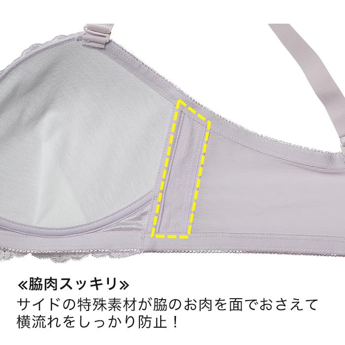 【グラマープリンセス】楽してバストメイク・美胸ノンワイヤーブラ(グリーン/ラベンダー)大きいサイズ 3L 4L 5L ブラ 女性下着 ランジェリー 美胸 プラスサイズ
