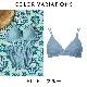 【Lingerie×タイニープリンセス】デイリーブラレット(ブルー/ベージュ) ミヤマアユミ 小胸 ブラ ノンワイヤー フィット S M Aカップ 小さいサイズ 小さめ インナー レディース