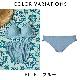 【Lingerie×タイニープリンセス】デイリーブラレットペアショーツ(ブルー/ベージュ) ミヤマアユミ スタンダードショーツ パンティー S M 下着 レディース 女性 パンツ パンティ レディースショーツ ショーツ