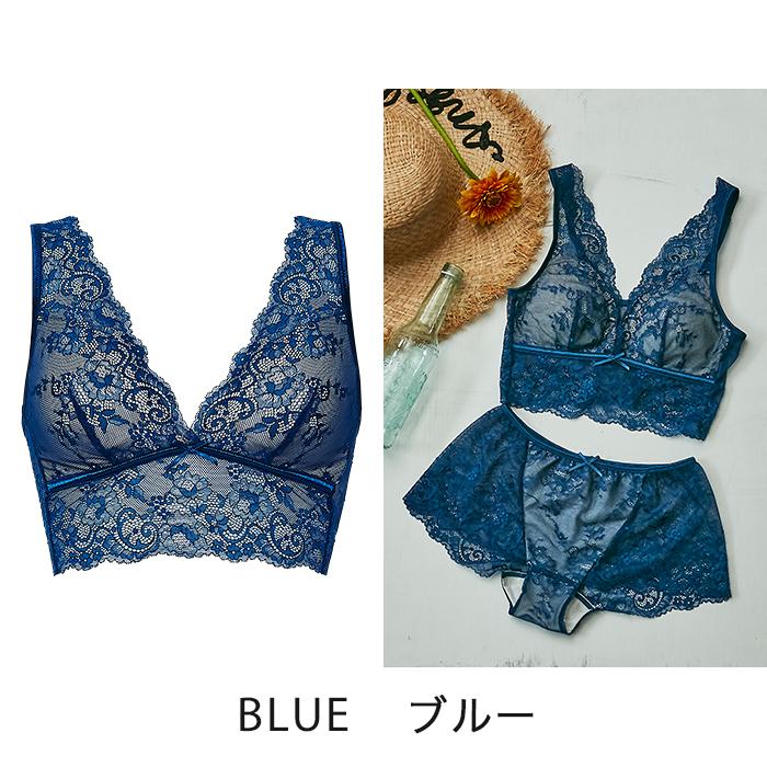 【タイニープリンセス】ストレッチレースブラレット(ブルー/ラベンダー)