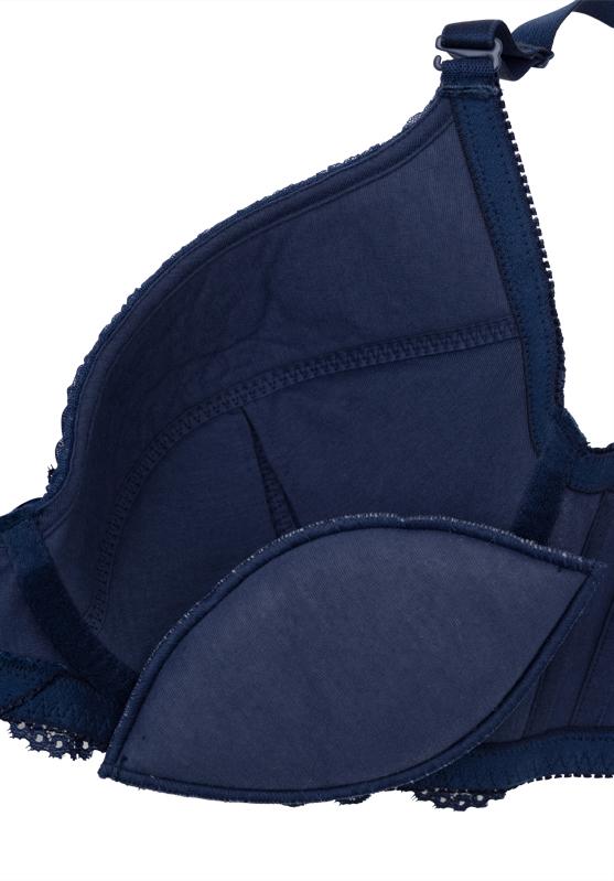 【グラマープリンセス】3/4CUP ラッセルレース ワイヤーブラジャー (ネイビー) ブラジャー 大きいサイズ E85 E90 E95 F85 F90 F95 G85 G90 G95 ブラ 女性下着 ランジェリー 美胸 プラスサイズ