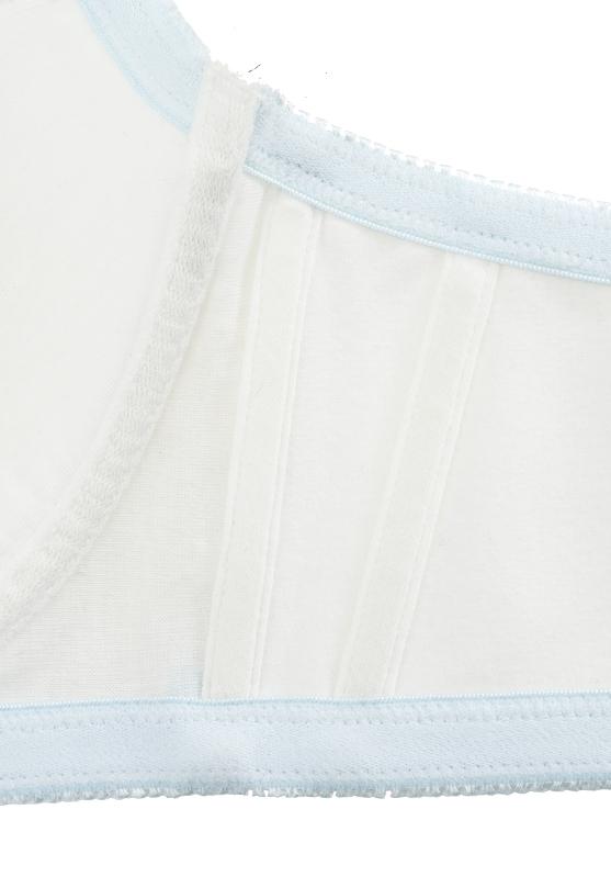 【グラマープリンセス】3/4CUP シフォンラメレース ワイヤーブラジャー (サックス) ブラジャー 大きいサイズ E85 E90 E95 F85 F90 F95 G85 G90 G95 ブラ 女性下着 ランジェリー 美胸 プラスサイズ