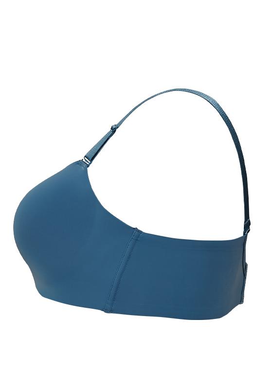 【グラマープリンセス】響きにくい・つるんとノンワイヤーブラ(ブルー/ラベンダー) ノンワイヤー ブラジャー 大きいサイズ 3L 4L 5L ブラ 女性下着 ランジェリー 美胸 プラスサイズ ワイヤレス 楽 ラク 楽ちん