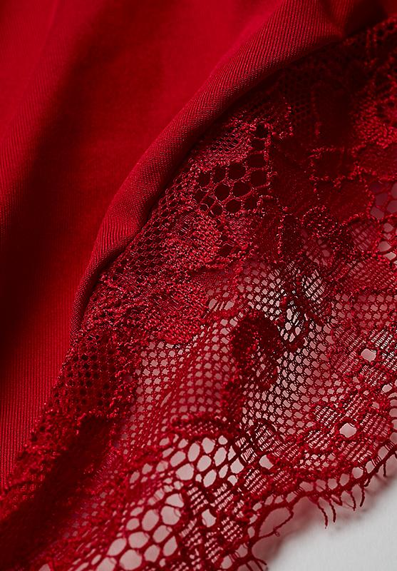 【グラマープリンセス】しっかりホールド・美胸キーパーペアショーツ(レッド/ブラック) スタンダードショーツ パンティー 大きいサイズ 3L 4L 5L 下着 レディース 女性 パンツ パンティ レディースショーツ プラスサイズ ショーツ