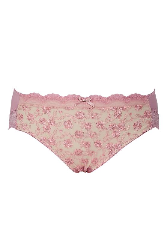 【グラマープリンセス】しっかりホールド・美胸キーパーペアショーツ(ピンク/ブラック) スタンダードショーツ パンティー 大きいサイズ 3L 4L 5L 下着 レディース 女性 パンツ パンティ レディースショーツ プラスサイズ ショーツ