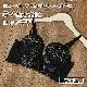 【ビューティープリンセス】ロングブラ(ブラック) ブラジャー 美胸 3/4カップ  下着  M L LL 補整 ワイヤーブラ 女性下着 ランジェリー 細見え 着やせ
