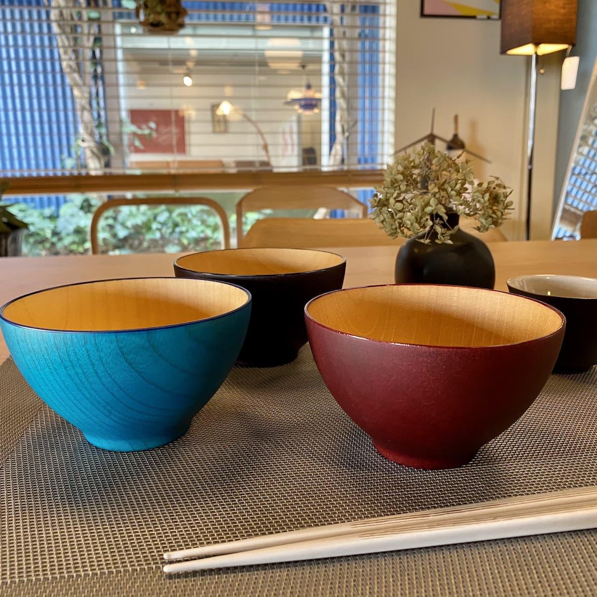 ビターカラーズ木彩椀