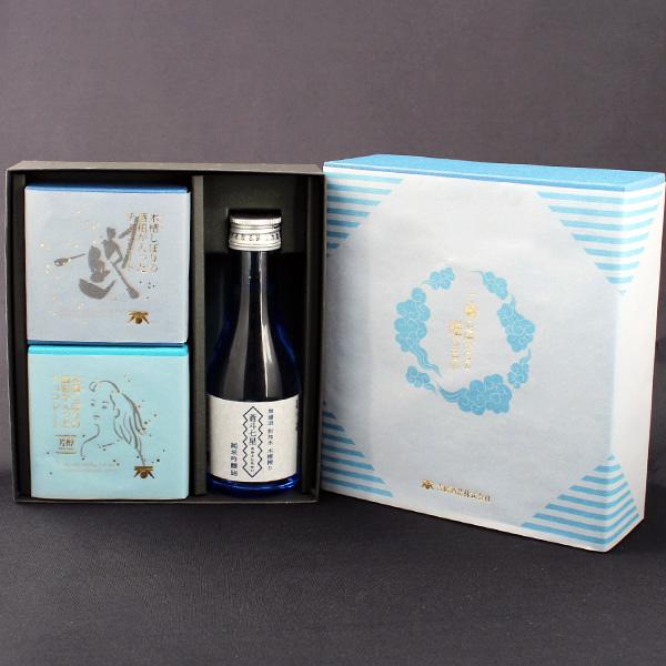 ホワイトデー ギフト  酒粕チョコ&日本酒セット ご縁の国からの贈り物 (紙袋付き) 【送料無料】