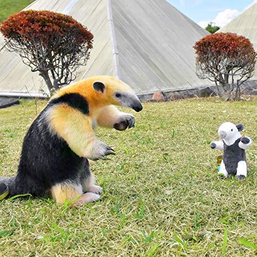【アリクイ】 伊豆シャボテン動物公園 オリジナル ぬいぐるみ(S) 2種セット & ポーチ付き