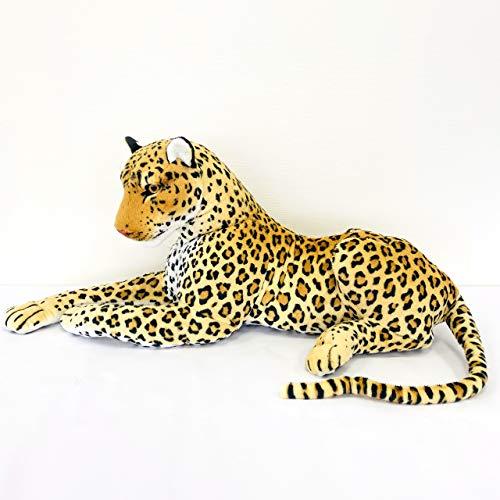【特大ぬいぐるみ】 リアル 動物 豹 ヒョウ 抱き枕 装飾 オブジェ インテリア  (105cm)