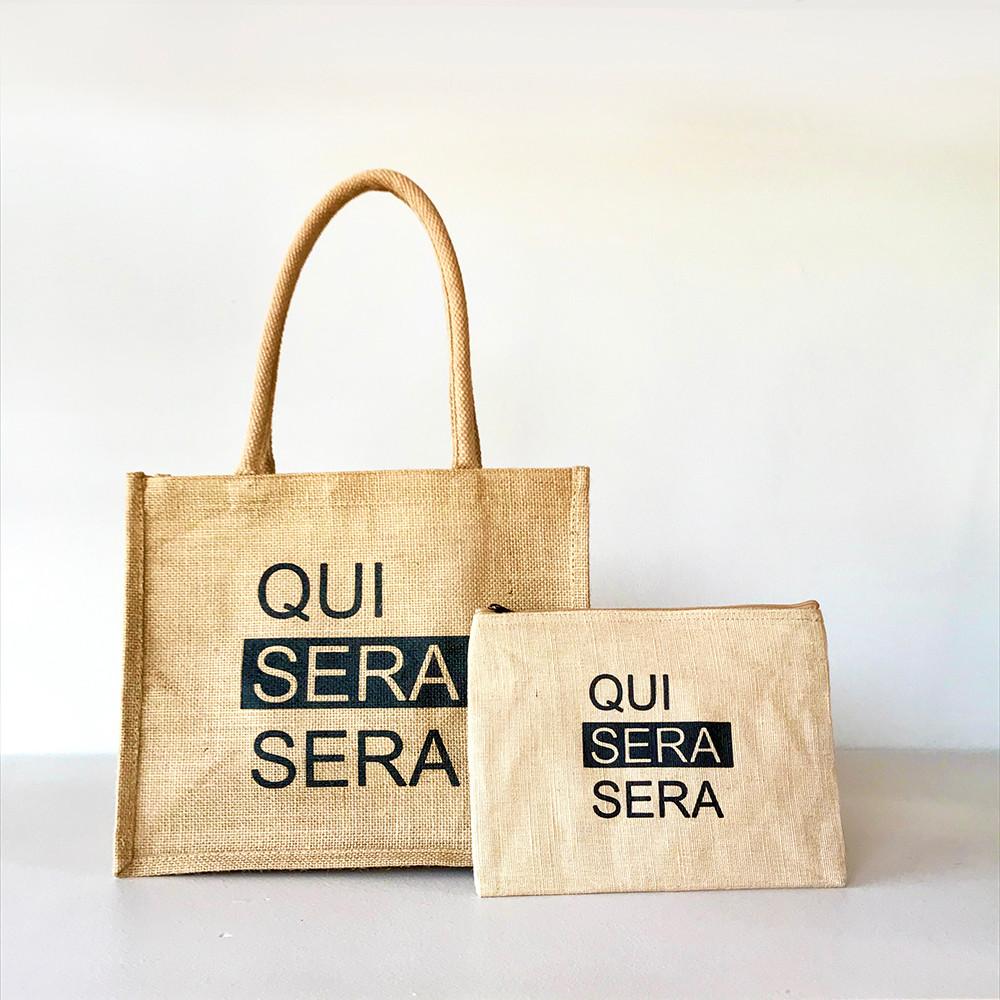 QUI SERA SERA ジュートバッグ(S)set