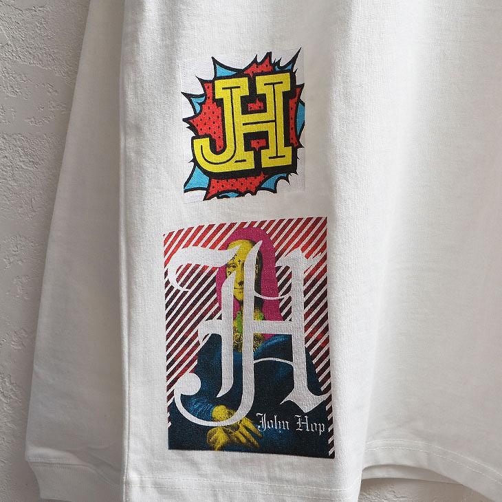 Patch print long sleeve T-shirt