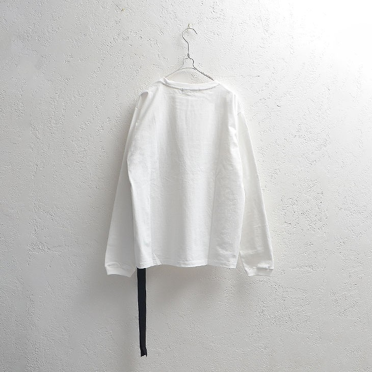 Patch print long sleeve T-shirt