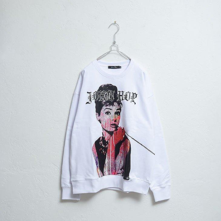 Hepburn print Sweatshirt