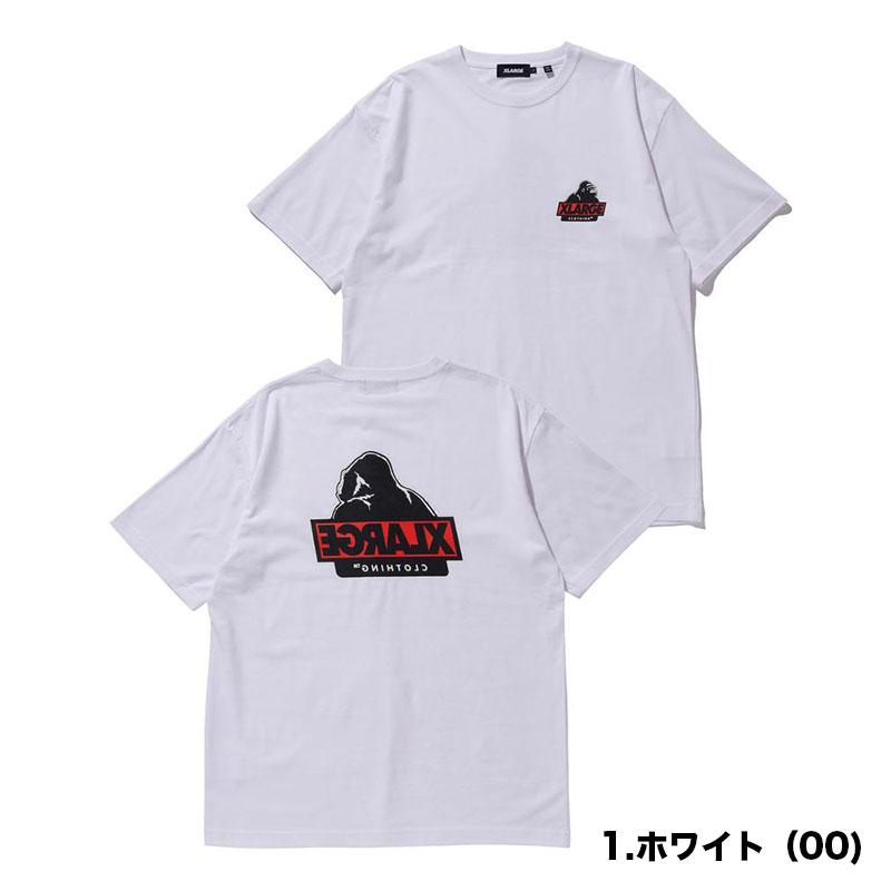 【101212011001】XLARGE|エクストララージ<br>半袖 Tシャツ S/S TEE SLANTED OG メンズ【21SS】ホワイト ブラック L XL
