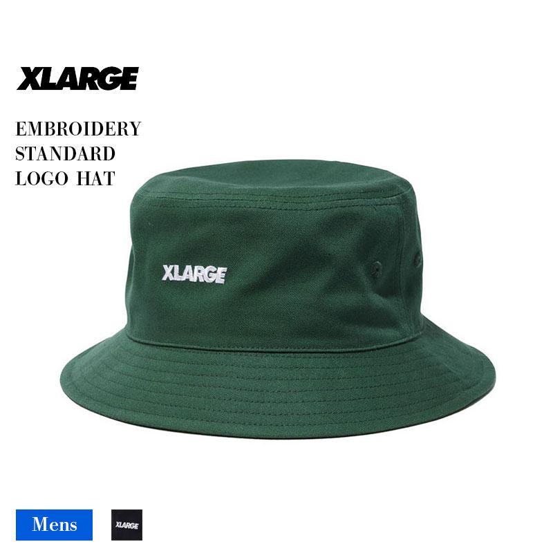 【101211051009】XLARGE|エクストララージ<br>帽子 ハット EMB STANDARD LG HAT メンズ【21SS】<br> 定番 刺繍 ブラック グリーン 黒