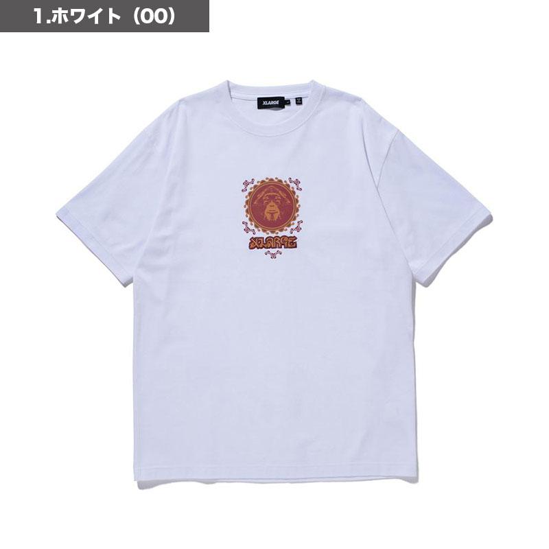 XLARGE エクストララージ<br>メンズ 半袖Tシャツ MIRROR S/S TEE<br>ミラー 鏡  グラフィック M L 白 紫 ホワイト パープル【101213011006】