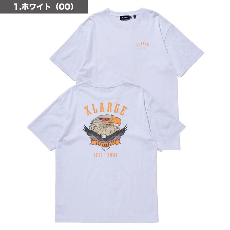 XLARGE|エクストララージ<br>メンズ 半袖Tシャツ EAGLE LOGO S/S TEE<br>鷹 イーグル バックプリント グラフィック M L 白 黒 緑【101213011013】