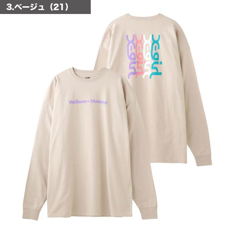 【105211041004】X-GIRL エックスガール<br>長袖 Tシャツ ワンピース MESSAGE LS TEE DRESS【21SS】 <br>ホワイト ブラック ベージュ