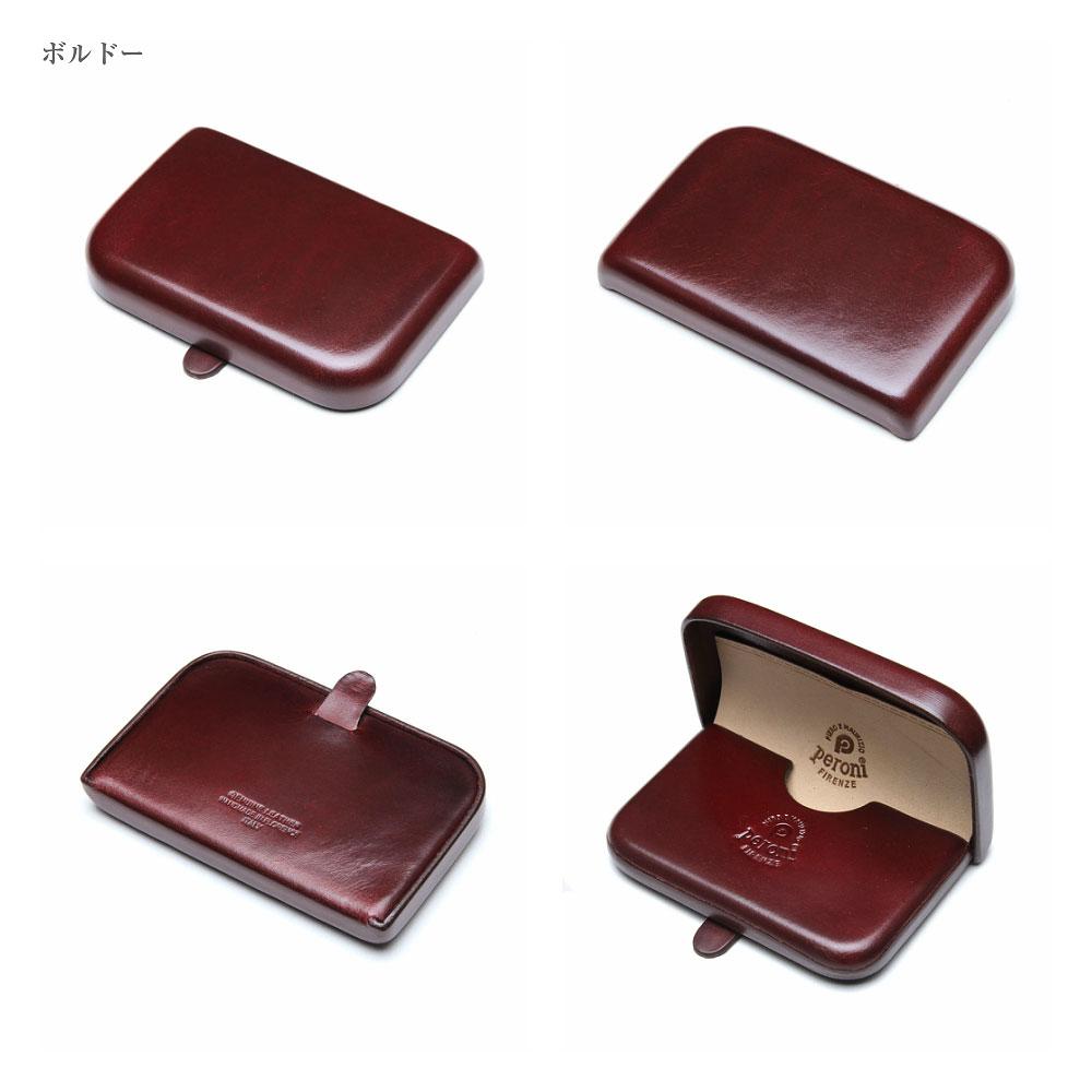 【正規輸入品】 Peroni Firenze ペローニ 名刺入れ カードケース 本革 1428