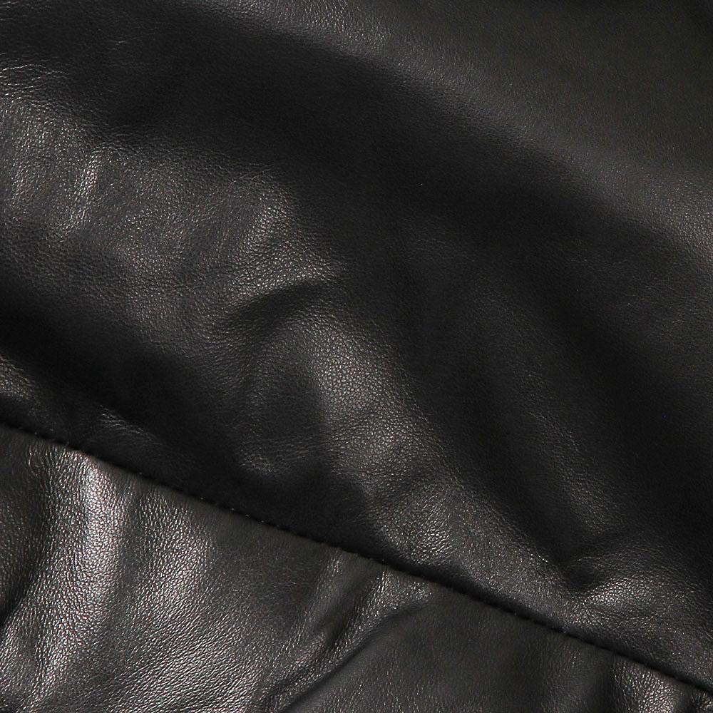 国内正規品 EMMETI エンメティ WILEY SILVER ワイリー シルバー レザーダウンベスト ラムナッパレザー メンズ ブラック 46/48 NERO ブラック