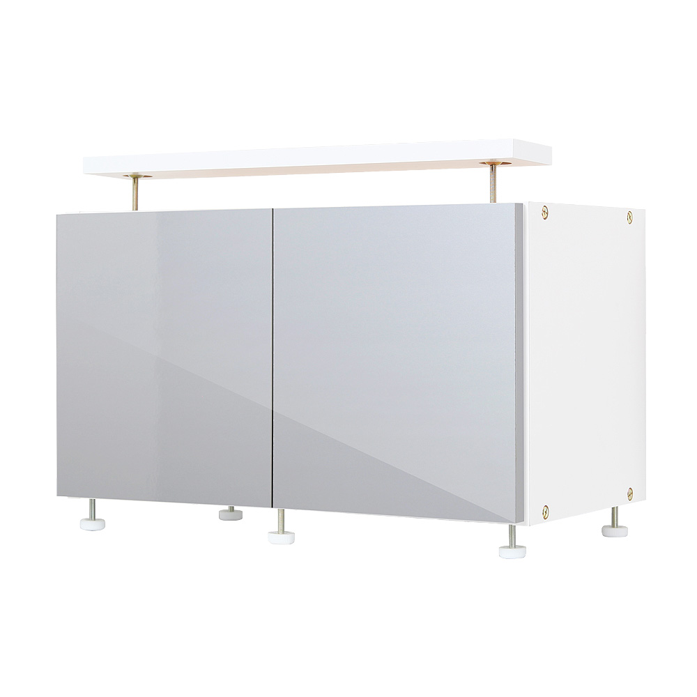 転倒防止収納庫冷蔵庫上じしん作くん ロータイプ 幅60cm×奥行30.8cm 天井つっぱり 地震対策 冷蔵庫転倒防止 キッチン 台所