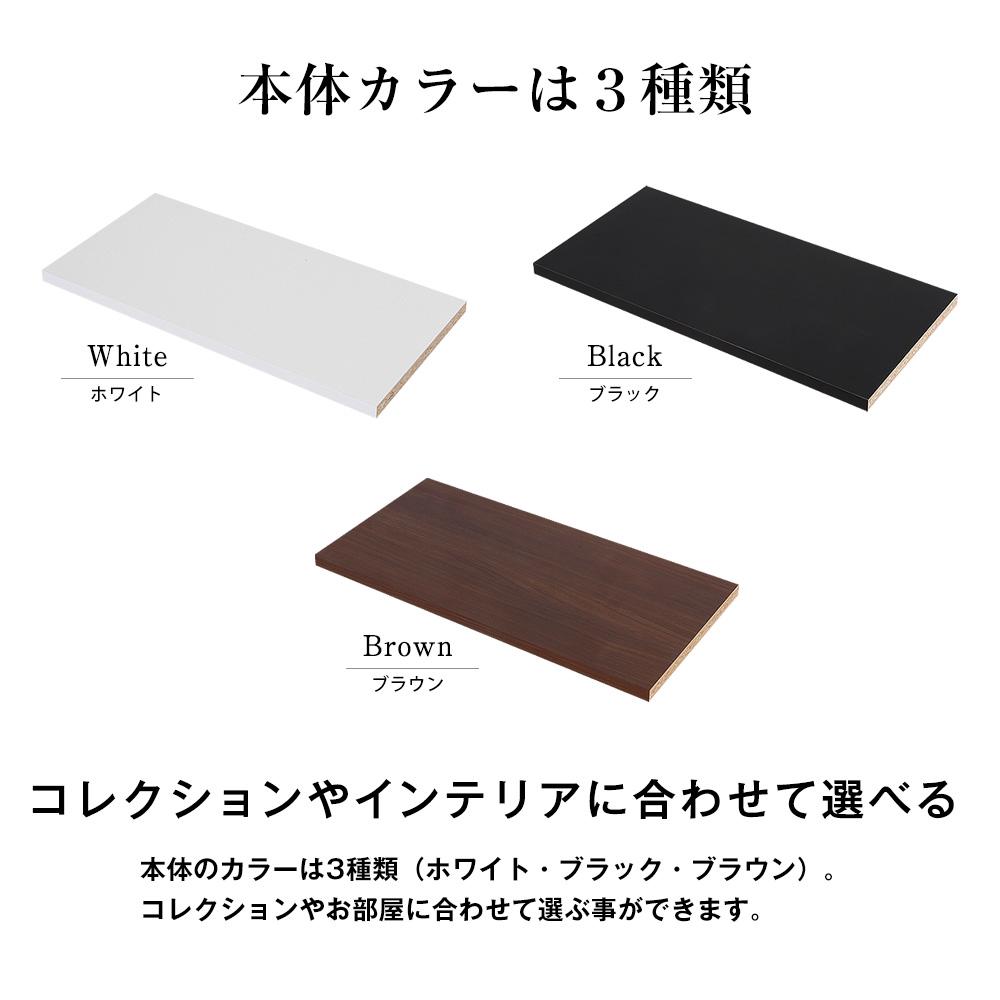 コレクションラック レギュラー 幅55cm×奥行29cm専用木製棚 -フィギュアラック ザ サード- (受注生産品)