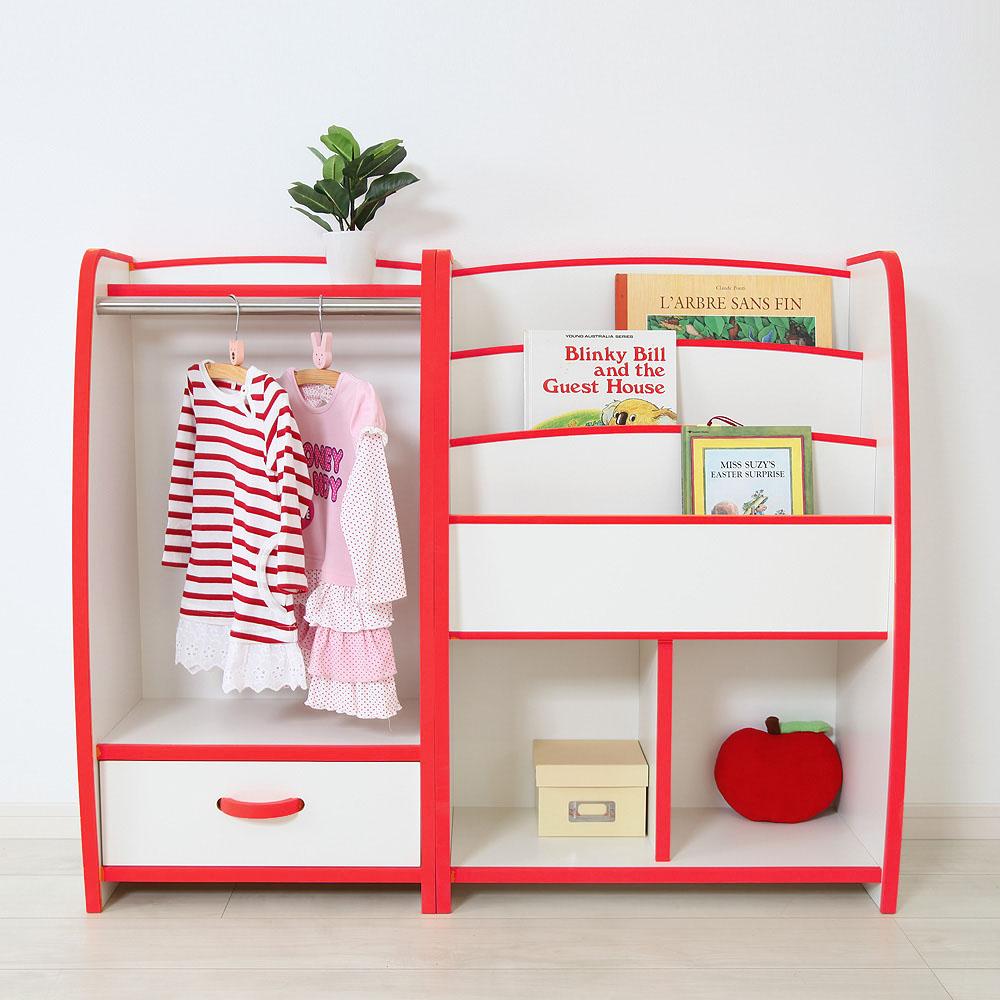 EVAキッズ マガジンラック 幅63cm×奥行30cm 子供家具 安心 安全 6色カラー 完成品 絵本棚・本棚