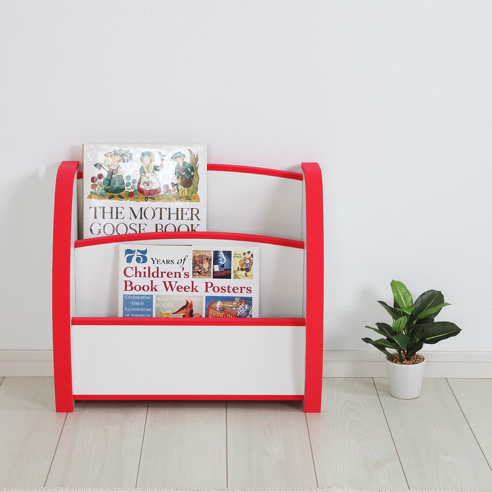EVAキッズ えほんたて 幅50cm×奥行22cm 子供家具 安心 安全 6色カラー 完成品 絵本・本棚・収納