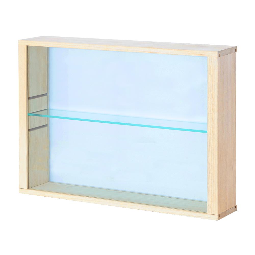 両面ガラス扉卓上コレクションケース スタンド 幅52cm×奥行11cm ねんどろいど ミニチュアフィギュア コレクションケース・卓上
