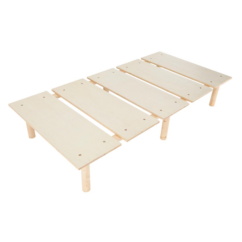 天然木シンプルベッド シングルベッド 高さ2段階調節可能 ローベッド ニーナ