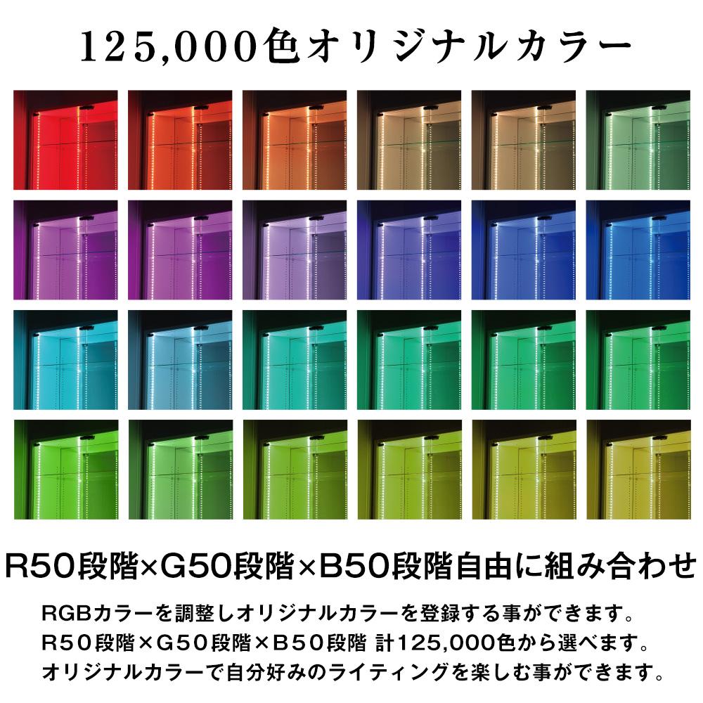 コレクションラック LED RGB モジュールセット ロータイプ -フィギュアラック ザ サード-