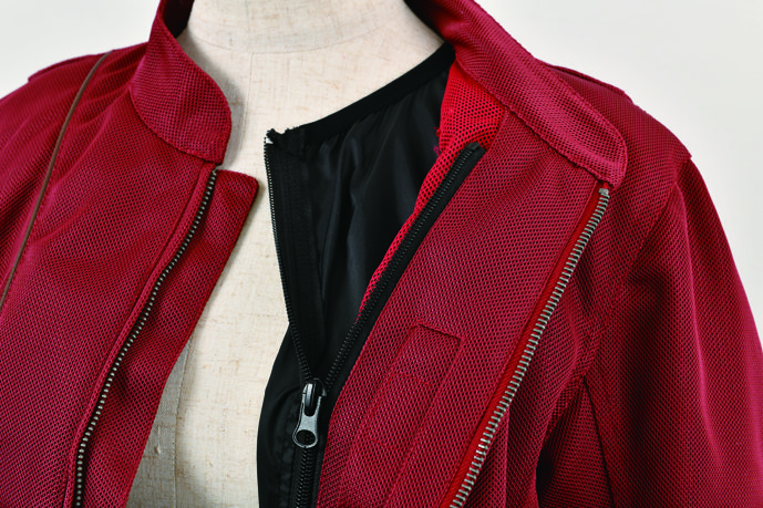 防風インナー付スタイルアップメッシュジャケット【2020 春夏】 Rosso ROJ-87 (レディース)