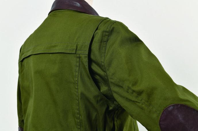 ミニヘリンボーンレザーカラージャケット【2020 春夏】 Rosso ROJ-94 (レディース)