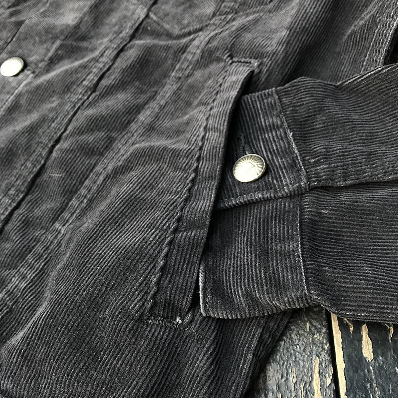 BLACK CORDUROY JACKET【REGULAR WASH】
