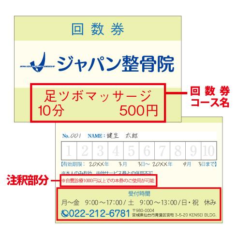 回数券ピンク(カードタイプ)