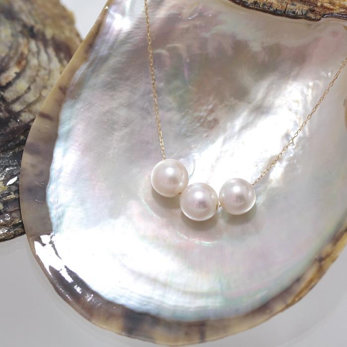 K18 大珠8mm 和珠本真珠ペンダント
