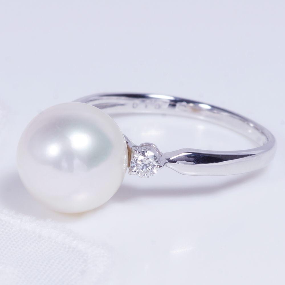 あこや真珠リング/Pt900