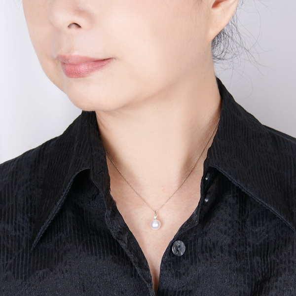 PT パールペンダント/アコヤ真珠