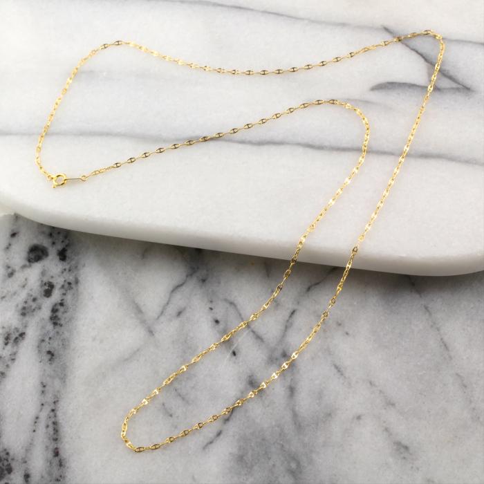 イタリー製 18金デザインロングネックレス 70cm